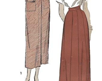 Advance 5162 Women's 40s Gored Skirt or Skirt with Pockets Unprinted Sewing Pattern Waist 28 Hip 37