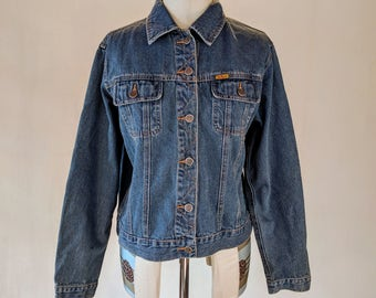 Dark Blue Denim Jean Jacket Top