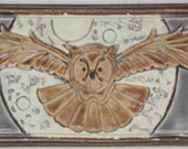 Night Owl Arts and Crafts MUD Pi handmade 4x8 ceramic tile