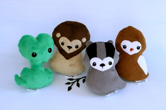 House Mascot Plushie Set. Wizard School Collection, Animal Plush Bundle, Snake Softie, Stuffed Lion Doll, Badger Soft Toy, Cute Eagle Plush
