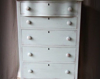 Farmhouse Style Dresser~Cottage~Prairie~Shabby Chic-highboy-chest of drawers~SHIPPING isn't included