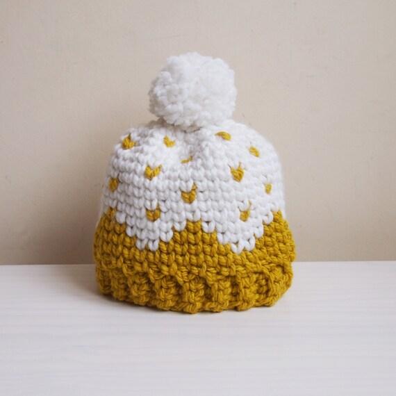 Crochet pattern Let it snow knit look hat fair isle women