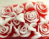ROSE BOUQUET Soap, Mother's Day Gift, For Her, Flower Soap, For Mom, Birthday Gift, Custom Colored, Custom Scented, Vegetable Based
