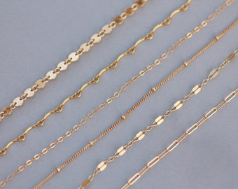 NEW Delicate Gold Filled Choker Collar Necklace,Choose Style,Dainty Gold Chain Necklace,Layering Necklace,Gift For Her,Everyday Necklace