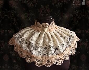 Wedding cover, shoulder piece, bridal neck accessory, Victorian, Art Nouveau, Maeror, Somnia Romantica, see item details for measurements