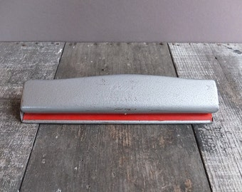 Vintage Industrial Grey Clix 3-Hole Paper Punch / Mid Century Paper Punch