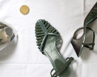 Cone Heel Sandals