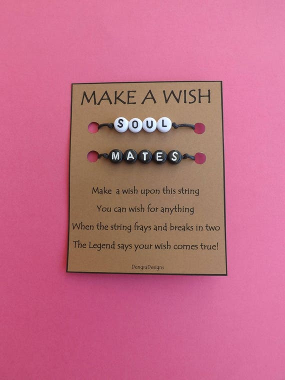 Soul Mates Black White Double Wish String