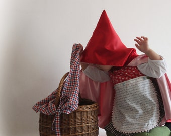 Little red riding hood costume. Size 3 years. Carnival costume. Immediate shipping.