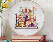 NEW Pretty Little Barcelona : Satsuma Street Jody Rice cross stitch patterns embroidery wall art
