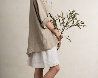 Loose fit linen jacket, Long sleeves jacket, Linen cardigan, Long linen blazer, Linen summer coat, Flax grey linen women's clothing by LHI