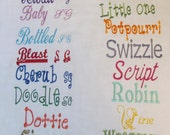 One or two names- Personalization upgrade-  - personalized minky blanket