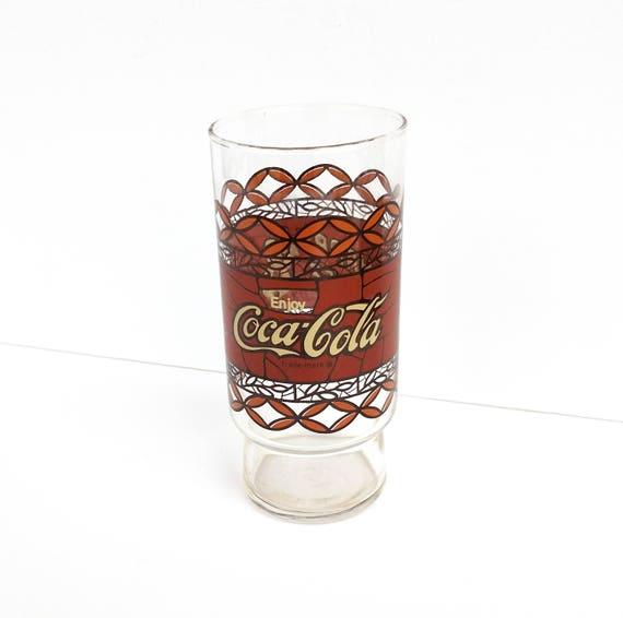 Vintage 1981 Coca Cola Happy Chef Glass