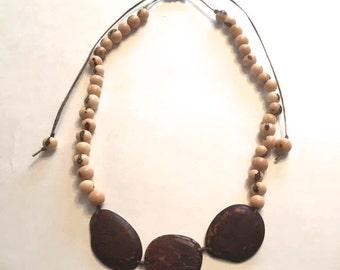 Tagua & Acai Seed Necklace/ Eco Friendly Jewelry/ Eco Fashion Jewelry/ Tagua Necklace