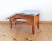 Vintage Shoe Sine Stool with Foot Rest and Drawer