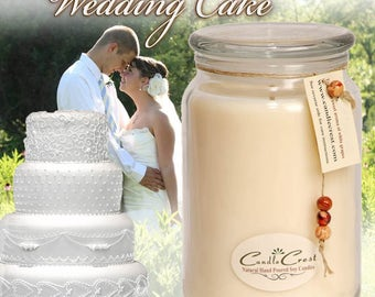 Wedding Cake Candles, Cake Scented Soy Candle, Bakery Candles, Vegan Friendly Candles, 100% Pure Natural Soy Wax
