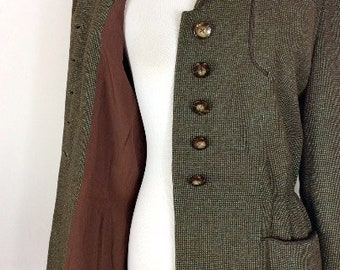 40s Speckled Soft Wool Jacket - Size Medium