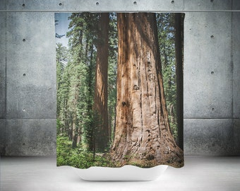 Redwood Forest Shower Curtain, Nature Decor, CaliforniaTheme, Forest Bathroom, Woodland Decor, Woodland Bathroom