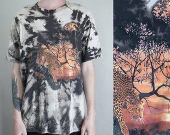 acidwash jungle tshirt - XL