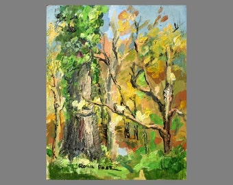 "original oil painting, ""Autumn leaves""  Landscape painting, Autumn landscape, Fall colors"