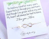 Infinity bracelet for mom, Mothers day gift, Mother of the bride gift from daughter, mother of the groom, pearl bracelet, Otis B weddings