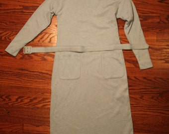 Vintage Ice Blue Frost 60s Sexy Wiggle Dress
