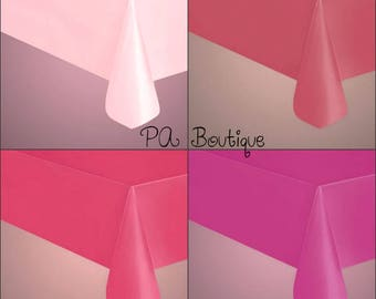 """Your Choice Of Color! 54""""x108"""" Rectangle (1.5mil thick) Reusable Plastic Party Table Covers (Free Shipping!)"""