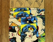 Head Band with Wire - WONDER WOMAN Super Hero Comic - 'Do Rag, Dolly Bow, Cotton Wrap, Twist, Bandana, Hair Tie, Roller Derby, Retro Pin Up