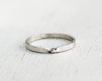 Thin Sterling Silver Mobius Ring - Eternity Band - Promise Ring - Twist Ring - Stacking Ring - Gift For Her - Custom Made