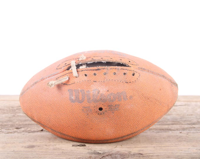 Vintage Leather Football / Football Decor / Old Football / Wilson Antique Football / NFL Football / Unique Mens Gift / Game Room