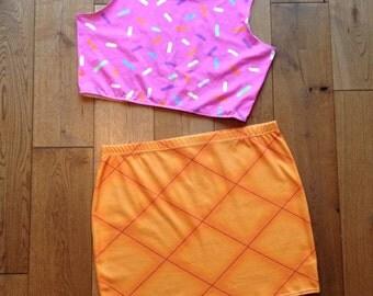 Ice Cream Cone Bodycon Skirt