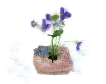 Japanese flower vase -pottery flower vase -  ceramic ikebana ikebana vase - ikebana pottery - - hostess gift - # 44