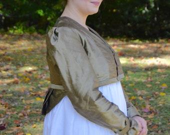 CUSTOM MADE 1810's/Regency/Jane Austen Spencer Jacket