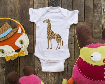 Giraffe 11 - graphic printed on Infant Baby One-piece, Infant Tee, Toddler T-Shirts - Many sizes