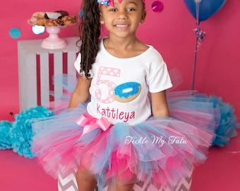 Donut Birthday Tutu Outfit-Doughnut Birthday Tutu Outfit-Donut Birthday Party-Doughnut Birthday-Donut Birthday Tutu Set *Bow NOT Included*