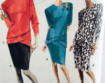 Vogue Vintage 1988 Misses Top and Skirt 7325