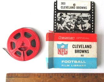 Cleveland Browns NFL 8mm Film, Vintage 1960's Cragstan Football film no. 3933, Sports Films, Browns Football, 8mm, Cleveland Super Bowl