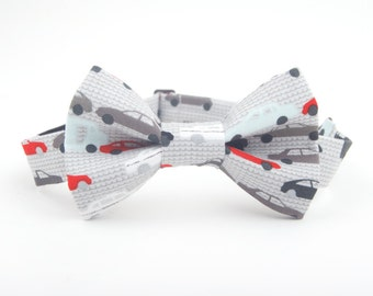 Vehicles bow tie, trucks bow tie, cars bow tie, grey bow tie, grey trucks bow tie, truck tie, car tie, boy's bow tie, toddler bow tie, cars