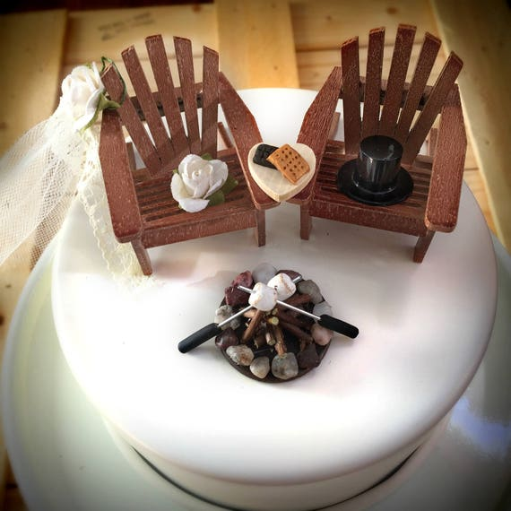 Rustic Smore Wedding Cake Toppers Topper Cabin