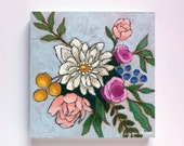 Original flower bouquet painting floral wall art - A Bouquet for Caroline