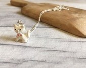Kitten necklace, cat necklace, cosplay jewelry, enamel cat charm necklace, cute jewellery, gifts for girls, gifts for women, cute necklace