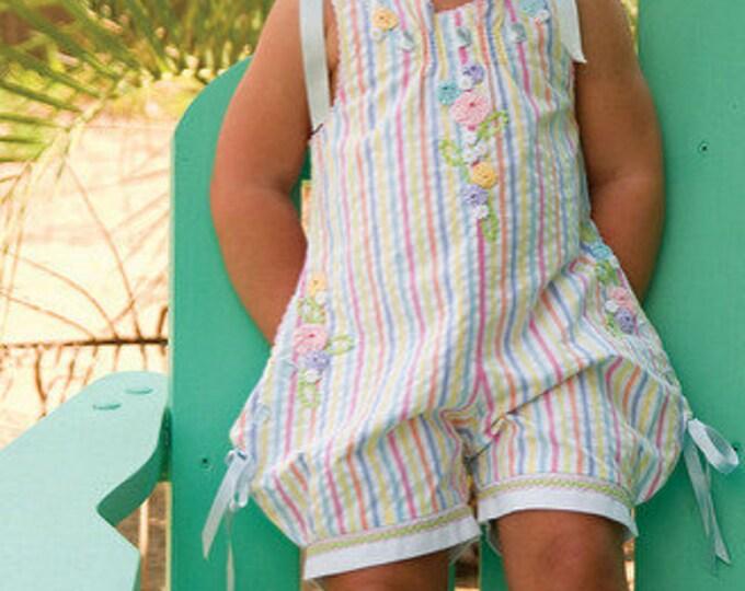Bubbles Pattern / Shoulder Ties / Rickrack flowers  / YoYo trim / buttonhole beading / pockets / girls bubble / Kari Mecca