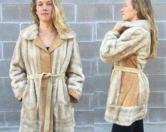 1960s London Leathers by Lilli Ann Faux Fur Jacket w/ waist tie