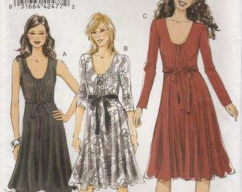 Modern Dress Pattern Vogue 8513 Sizes 14 16 18 20 22 Uncut