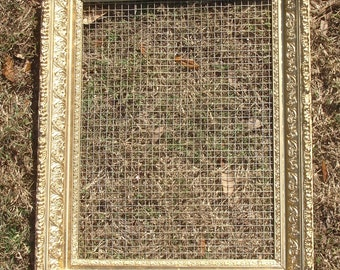 Extra Large Ornate Frame Jewelry Accessory Organizer - Handmade Display