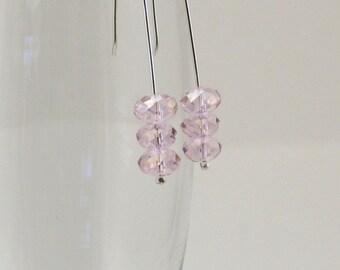 Pink Dangle Earrings / PInk