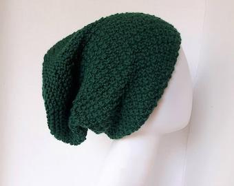 Cashmerino Slouchy Knit Beanie / Knit Hat / Slouchy Hat / Winter Hat / Winter Knit Slouchy Hat