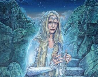 Galadriel J R R Tolkien print 10 x 12 inches