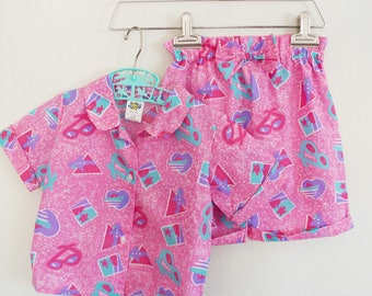 Pink Shorts Girls Outfit Vintage Clothes