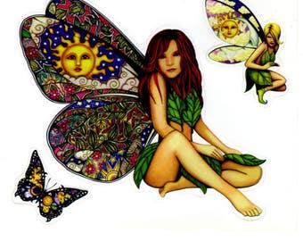 Dan Morris Butterfly Fairy Stickers -- RJ289